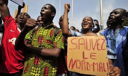 marche de protestation à Tombouctou